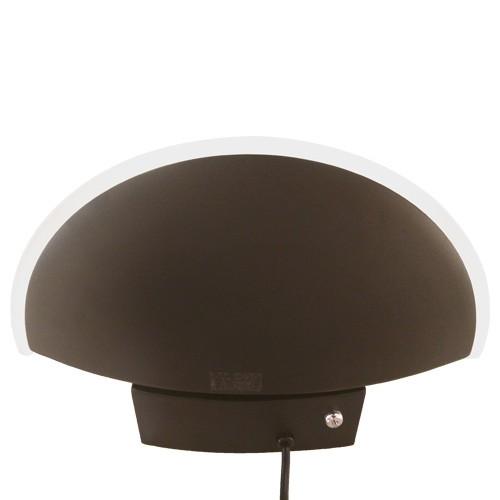 Moderne wandlamp zwart LED uplighter