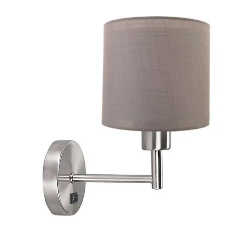 **Wandlamp met lampenkap olijf staal