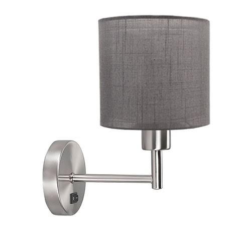 **Wandlamp Bas staal met lampenkap