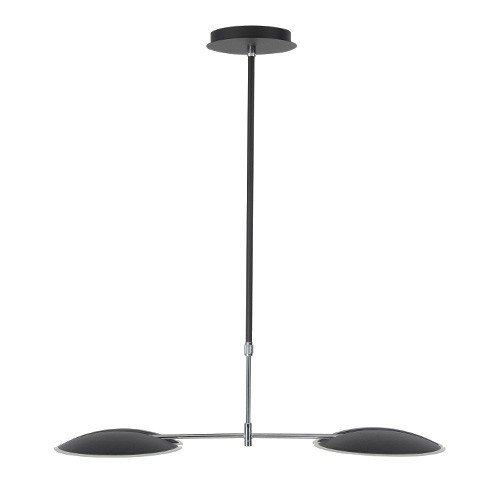 Moderne LED hanglamp zwart eettafel