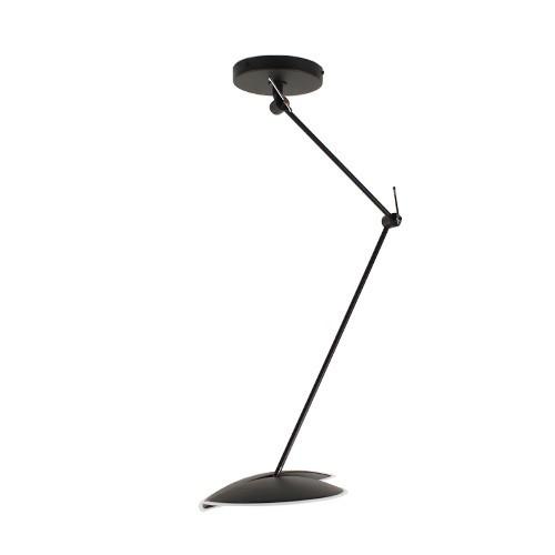 *Moderne LED hanglamp verstelbaar zwart