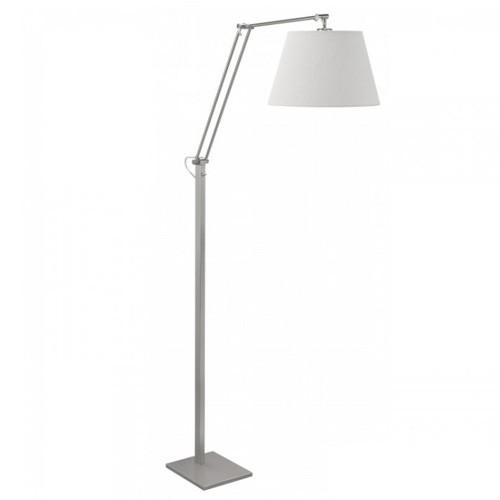 **Moderne vloerlamp met linnen kap wit