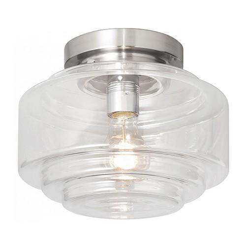Glazen plafonniere art deco hal wc kamer straluma - Deco van wc ...