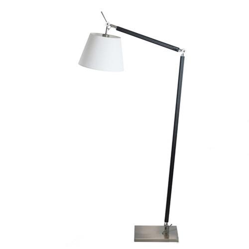 **Moderne leeslamp zwart-staal met kap