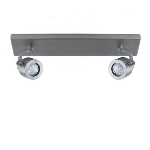 Balkspot 2-lichts nikkel mat gu10