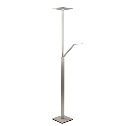 Stalen uplighter/leeslamp LED dimbaar