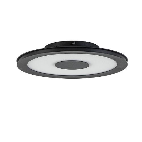 Zwarte plafonnière met dimbaar LED in 3 stappen