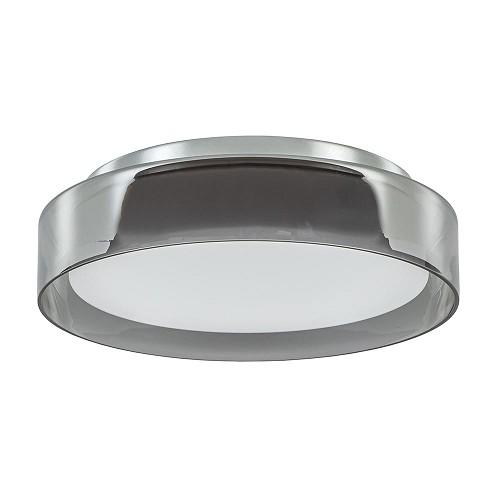 Plafondlamp chroom/smoke IP44 3-step dim