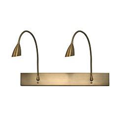 *Klassieke wandlamp brons flexibel
