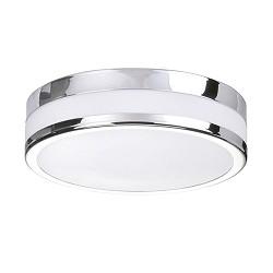 **Badkamer plafondlamp chroom wit IP44