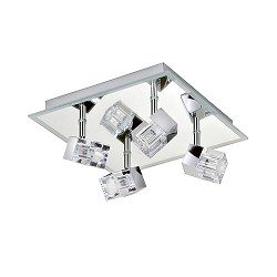 *Moderne badkamerlamp plafond chroom