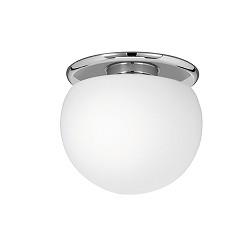 *Plafondlamp Basic chroom glas 25 cm