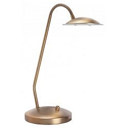 *Klassieke tafellamp LED brons dimbaar