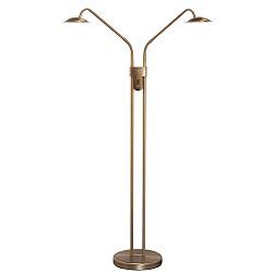 *Dubbele leeslamp LED Jupiter brons
