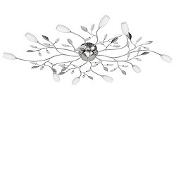 Plafondlamp Grosseto wit glazen kelkjes