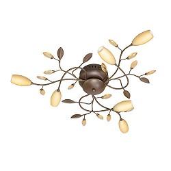 Plafondlamp Grosseto 6 lichts romantisch