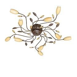 Plafondlamp Grosseto amberkleurig glas