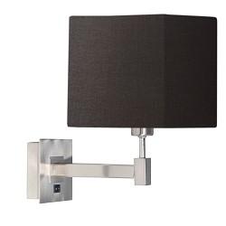 ** Wandlamp kubus antraciet stof modern