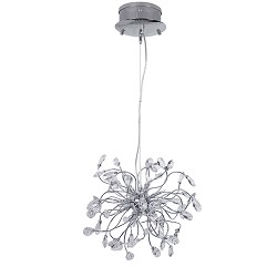 **Hanglamp Glossy chroom romantisch