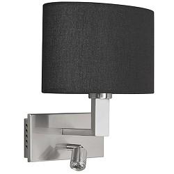 Wandlamp New Oval kap zwart led