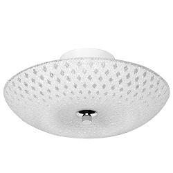 Plafondlamp Decor 30 cm glas wit modern