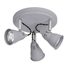 Plafondlamp Country spots grijs 3 lic