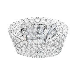 **Romantische plafondlamp kristal chroom