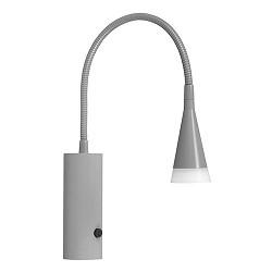 Grijze LED leeslamp verstelbare bedlamp
