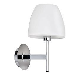 * Wandlamp Solar melk glas chroom
