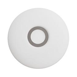 *Badkamer plafondlamp wit-chroom groot