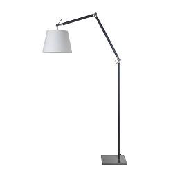 **Moderne staande lamp staal met zwart