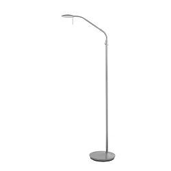Moderne staande leeslamp staal dimbaar