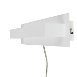 **LED wandlamp design wit met schakelaar