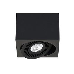Kleine moderne zwarte opbouwspot LED