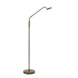 Klassieke bronzen vloerlamp LED dimbaar