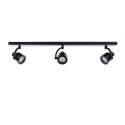 Zwarte plafondbalk spot 3-lichts