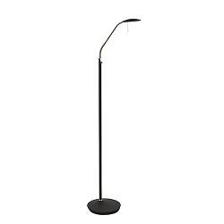Moderne LED vloerlamp zwart met dimmer
