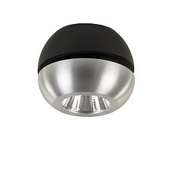 **LED plafondspot aluminium-zwart