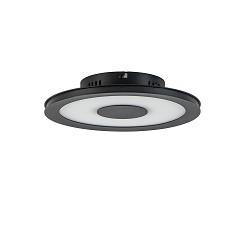 Moderne LED plafondlamp zwart dimbaar