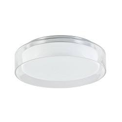 Plafondlamp chroom/helder IP44 3-step dim