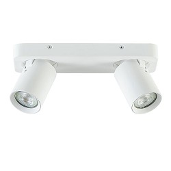 Witte 2-lichts opbouwspot langwerpig