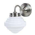 Strak klassieke wandlamp Deco staal