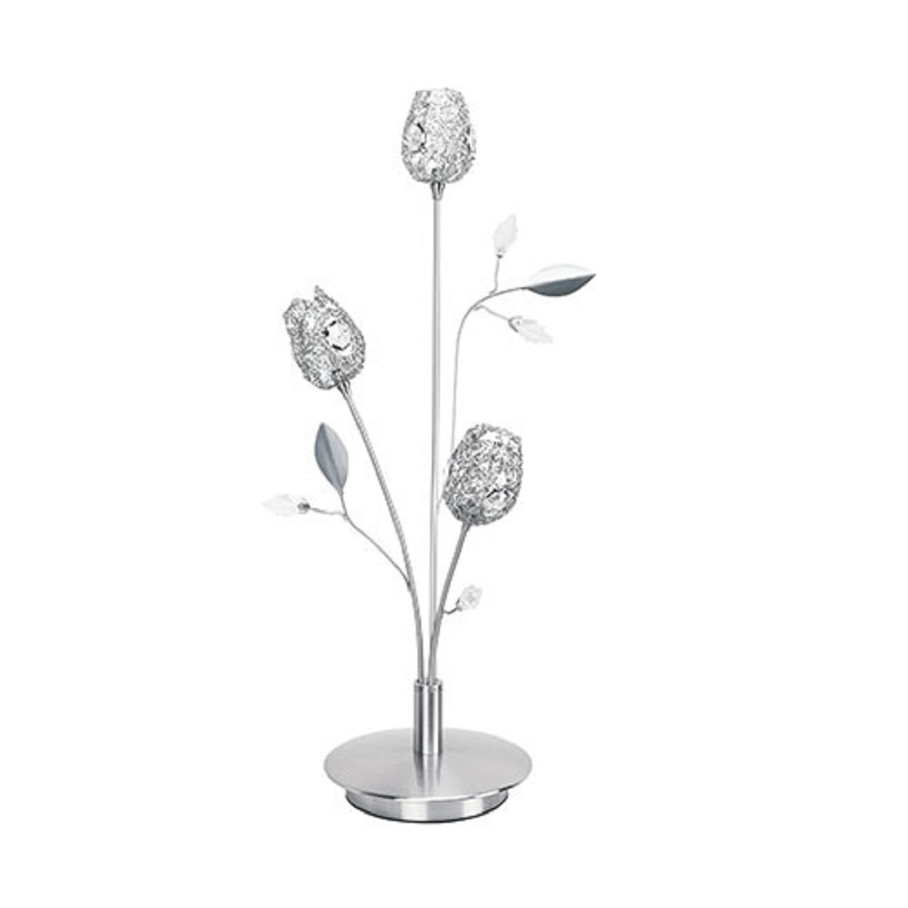 Romantische tafellamp Toscane nikkel