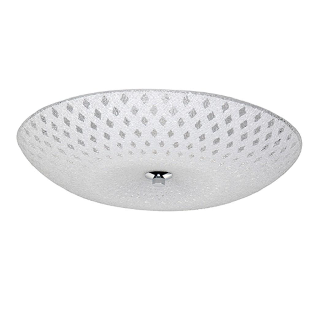 Plafonnière Decor 40 cm wit glas chroom