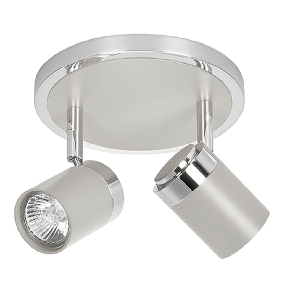 Plafondlamp spot Athena beige 2 lichts