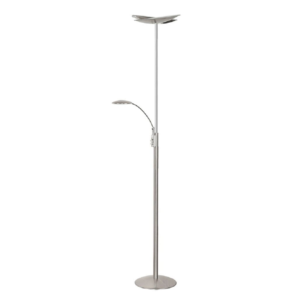 Dimb. staande Ledlamp uplighter staal