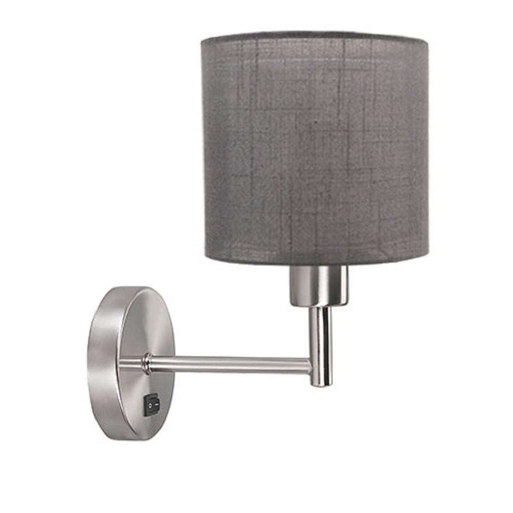 *Wandlamp Bas staal met lampenkap