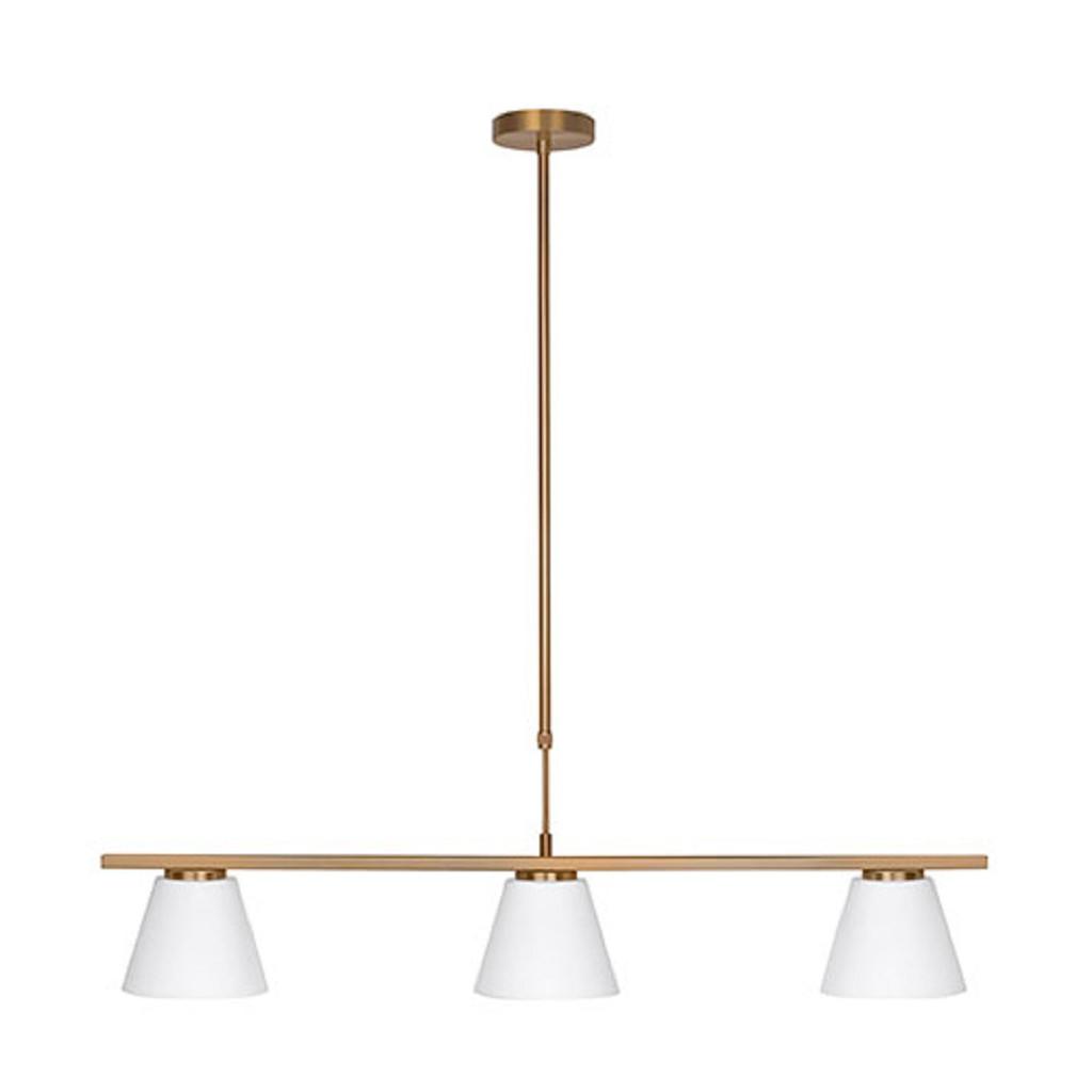 Klassieke hanglamp Elite brons 3-lichts