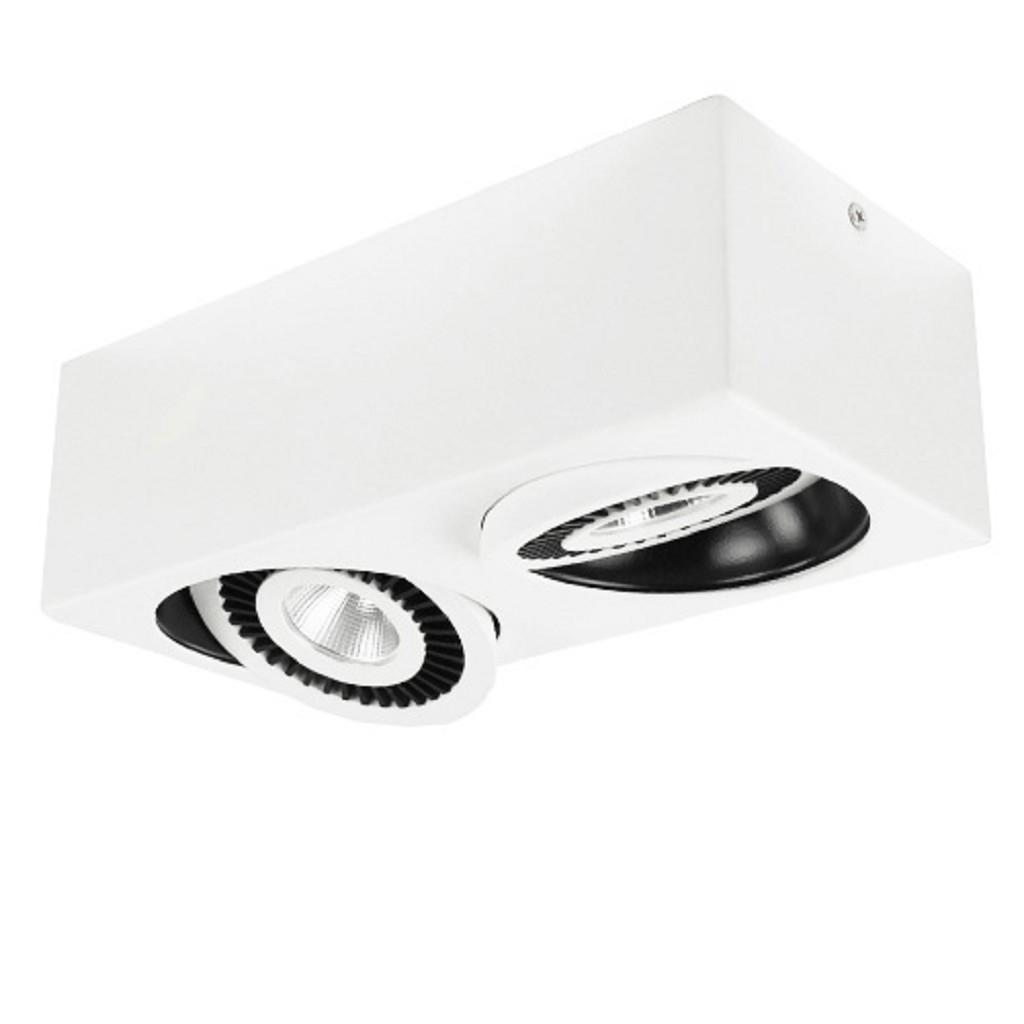 Plafondspot 2-lichts wit led 3000k