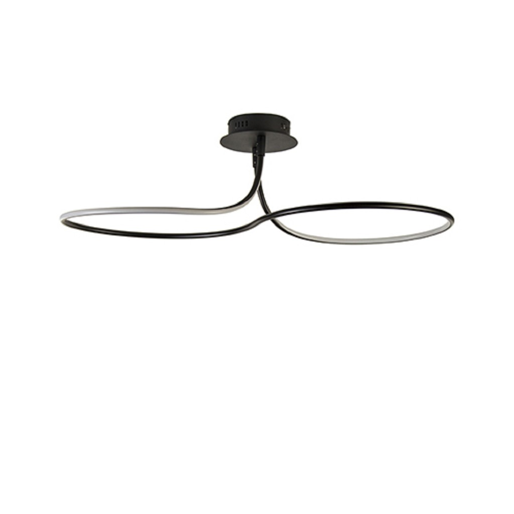 Moderne plafonnière LED zwart